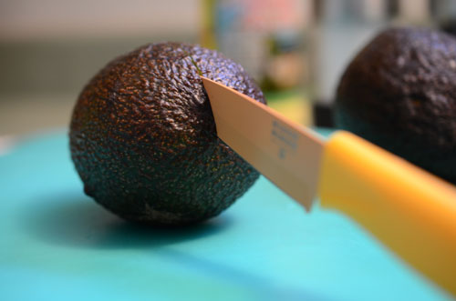 slicking avocado, photo by Jenny MacBeth