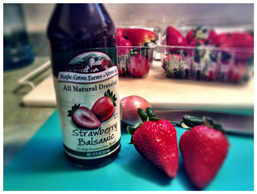 Strawberry Balsamic Dressing, Photo by Jenny MacBeth