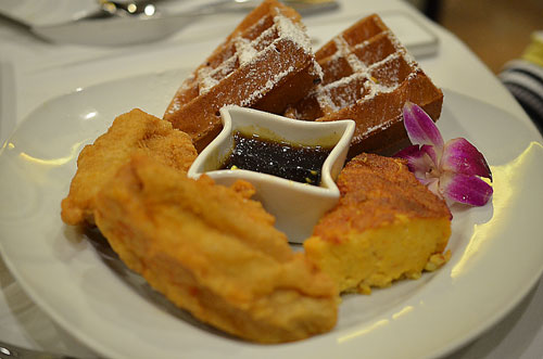 chicken waffles, photo by Glen Green