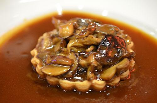 mushroom tart, photo by Glen Green