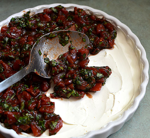 spread out cream cheese and mixture, photo by jenny macbeth