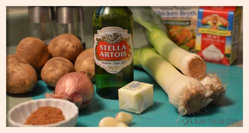 all you need to make white ale potato leek soup