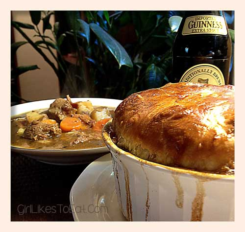 Irish Lamb Stew in Guinness and Puff Pastry